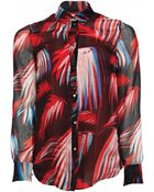 Matthew Williamson Palm Chiffon Silk Shirt - Lyst