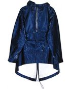 T By Alexander Wang Laminated Tyvek Hooded Anorak - Lyst