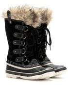 Sorel Joan Of Arctic Suede And Rubber Boots - Lyst