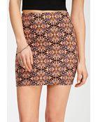 Forever 21 Kaleidoscope Print Mini Skirt - Lyst