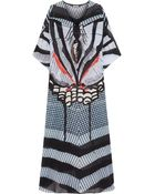 Temperley London Printed Silk-Chiffon Kaftan - Lyst