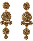 Oscar de la Renta Swirl Drop Earring - Lyst