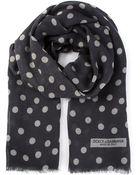 Dolce & Gabbana Polka Dot Print Scarf - Lyst