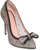 RED Valentino 100Mm Rubber Net Bow Pumps - Lyst