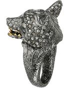 Alexis Bittar Crystal Encrusted Fox Ring - Lyst