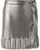 Paco Rabanne Wrap Metallic Skirt - Lyst