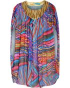 Matthew Williamson Embellished Printed Silk-Chiffon Top - Lyst