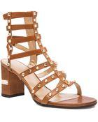 Stuart Weitzman Rivet Cleo Leather Sandals - Lyst