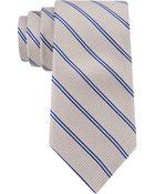 Michael Kors Two Lane Striped Tie - Lyst