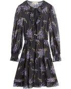 Michael Kors Silk Chiffon Printed Dress - Lyst