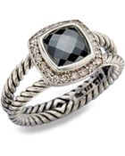 David Yurman Diamond Hematite Sterling Silver Ring - Lyst