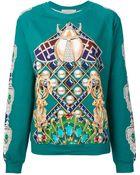 Mary Katrantzou Jeweled Print Sweatshirt - Lyst