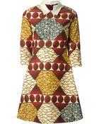Stella Jean Flared Printed Dress - Lyst