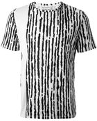 Balenciaga Abstract Stripe Print T-Shirt - Lyst
