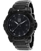 Luminox Mens Modern Mariner Black Ion Plated Steel and Dial - Lyst