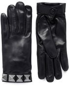 Valentino Rockstud Short Leather Gloves - Lyst