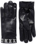 Valentino Rockstud Short Leather Gloves - Lyst