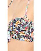 Zimmermann Floral Frill Bikini Top - Lyst