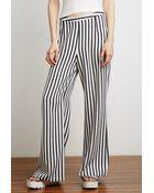 Forever 21 Striped Wide-Leg Pants - Lyst