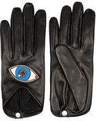 Yazbukey X Causse Gantier + Plexiglas&Reg;-Embellished Leather Gloves - Lyst