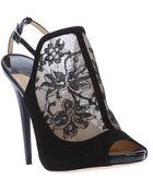 Jimmy Choo Maylen Lace Insert Sandal - Lyst