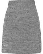 T By Alexander Wang Stretch-Knit Mini Skirt - Lyst