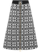 Fausto Puglisi Black and White Printed A-line Skirt - Lyst