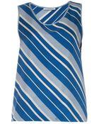 J.W. Anderson Diagonal-Striped Silk Tank Top - Lyst