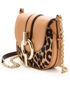 Diane von Furstenberg Sutra Mini Leopard Jacquard Cross Body Bag Leopardsandalwood - Lyst