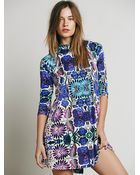 Free People Fp New Romantics Fiesta Floral Dress - Lyst