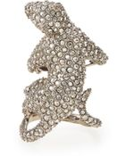 Alexis Bittar Elements Crystal Panther Ring - Lyst
