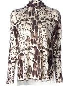 Blumarine Oversized Animal Print Sweater - Lyst