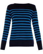 Vince Striped Cashmere Sweater - Lyst