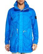 Stone Island Blue Windbreaker Jacket - Lyst