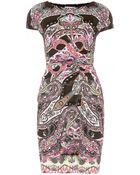 Etro Printed Stretchcrepe Dress - Lyst