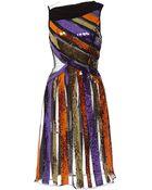 Rodarte Multicolored Sequin Striped Sleeveless Dress - Lyst