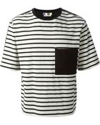 MSGM Striped T-Shirt - Lyst