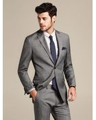 Banana Republic Tailored-Fit Grey Micro-Dot Wool Suit Jacket - Lyst
