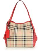 Burberry Canter Small Horseferry Check & Leather Shoulder Bag - Lyst