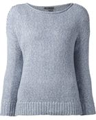 Vince Boat Neck Sweater - Lyst