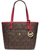 MICHAEL Michael Kors Jet Set Medium Snap-Pocket Tote Bag - Lyst