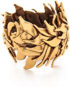 Oscar de la Renta Leaf Bracelet - Russian Gold - Lyst