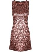 Alice + Olivia Dot Metallic Sleeveless Shift Dress - Lyst
