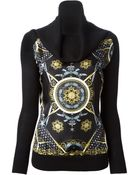 Versace Printed Sweater - Lyst