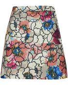 Topshop Womens Premium Poppy Lurex Skirt  Multi - Lyst