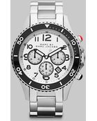 Marc By Marc Jacobs Stainless Steel Chronograph Watch - Lyst