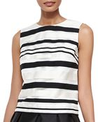 Shoshanna Fern Sleeveless Striped Top - Lyst
