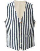 Lardini Striped Waistcoat - Lyst