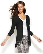 Inc International Concepts Fringed Open-Front Cardigan - Lyst