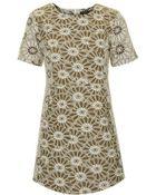 Topshop Daisy Jacquard Shift Dress - Lyst